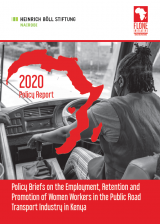 Cover Page of the Women In transport Policy Brief